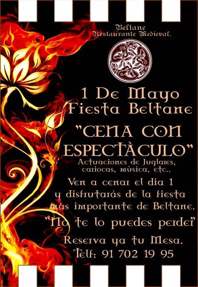 Fiesta Restaurante Beltane, 1 de Mayo.