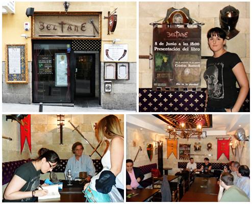 Restaurante, Beltane, presentación Libro Draculesti.