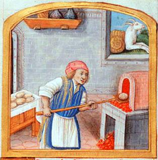 Horno de pan en la edad media.