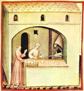La elaboración de pan en la edad media.