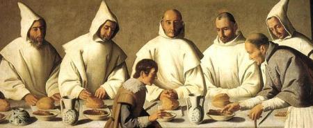 Alimentación de los monjes en la edad media.