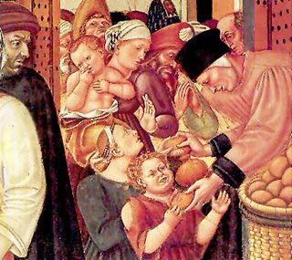 alimentación de los pobres en la edad media.