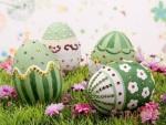 Huevos de pascua decorados.