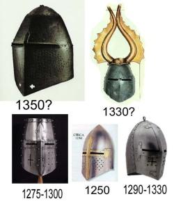 Cascos de diferentes epocas.