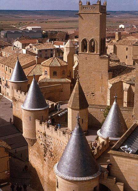 Castillo de los Reyes de Navarra Olite.